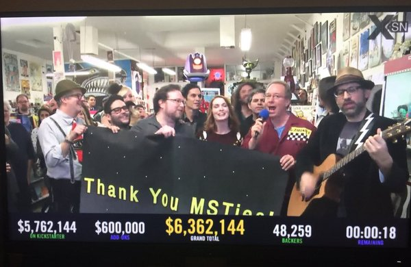 MST3K Crowdfunding Success